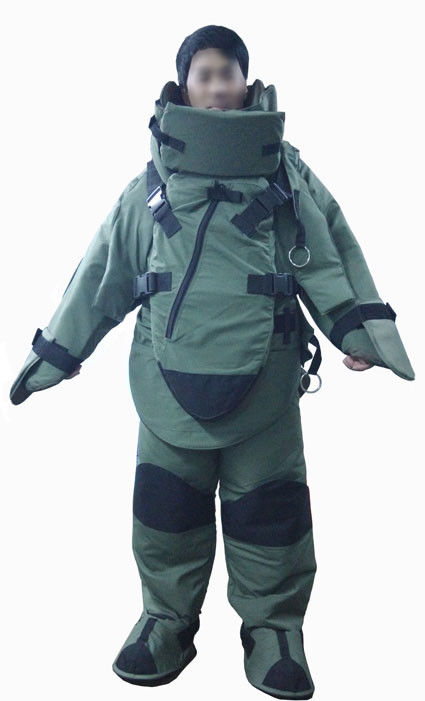 Waterproof Treated Eod Bomb Disposal Suit 12V DC Protection Of Fragmentation
