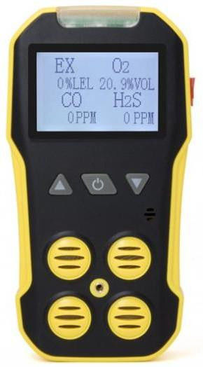 Rechargeable 3 In 1 Multiple Gas Detector For CL2 NH3 HCN With Self Test Function