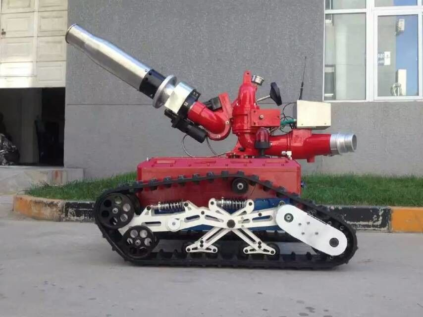 Large Operating Range Fire Fighting Equipment Fire Fighting Robot 1040 * 762 * 1070mm
